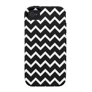 Black and White Zig Zag Pattern. Vibe iPhone 4 Covers