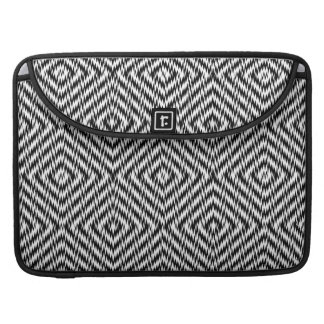 Black and White Zig Zag Sleeve For MacBook Pro