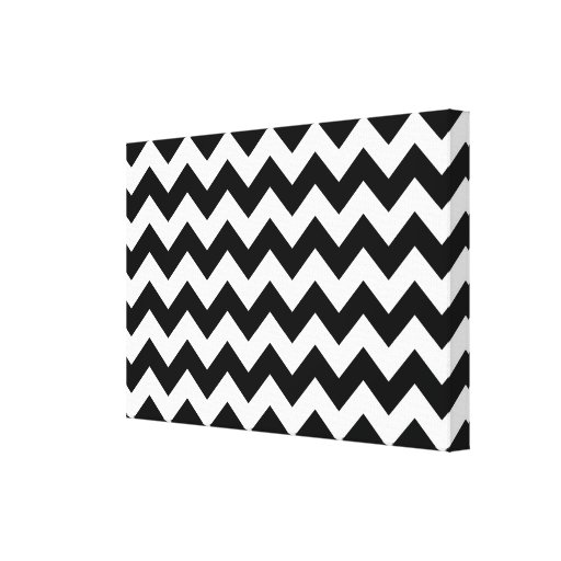Black and White Zigzag Gallery Wrap Canvas