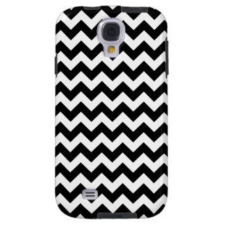 Black and White Zigzag Chevron Pattern Galaxy S4 Case