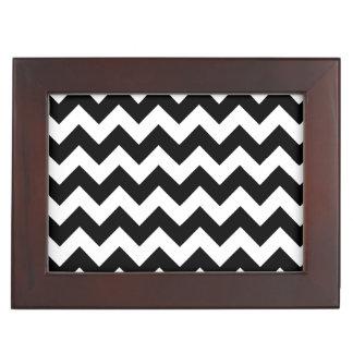 Black and White Zigzag Chevron Pattern Memory Boxes