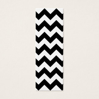 Black and White Zigzag Chevron Pattern Mini Business Card