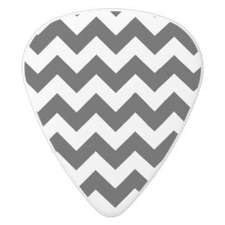 Black and White Zigzag Chevron Pattern White Delrin Guitar Pick