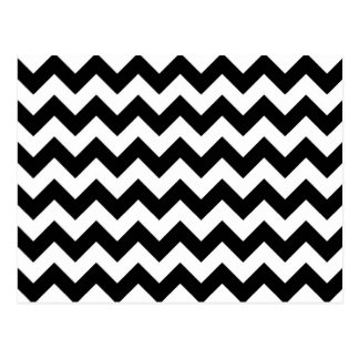 Black and White Zigzag Postcard