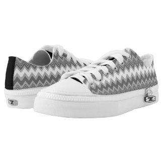 Black and White Zigzag Shoes