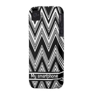 Black and White Zigzag Smartphone Case iPhone 4 Covers