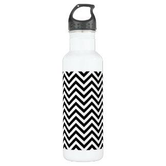 Black and White Zigzag Stripes Chevron Pattern 710 Ml Water Bottle