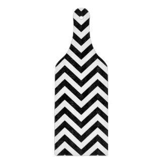 Black and White Zigzag Stripes Chevron Pattern Cutting Board