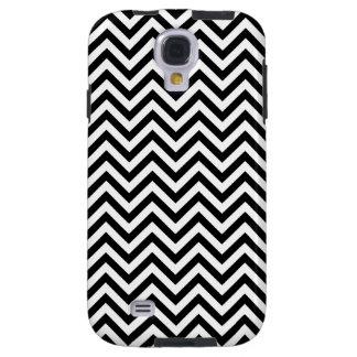Black and White Zigzag Stripes Chevron Pattern Galaxy S4 Case