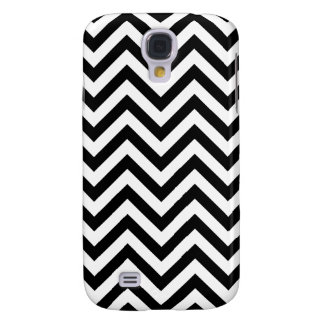 Black and White Zigzag Stripes Chevron Pattern Galaxy S4 Covers