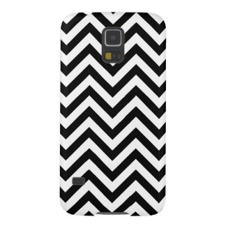 Black and White Zigzag Stripes Chevron Pattern Galaxy S5 Covers