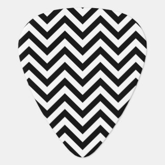 Black and White Zigzag Stripes Chevron Pattern Guitar Pick