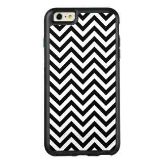 Black and White Zigzag Stripes Chevron Pattern OtterBox iPhone 6/6s Plus Case