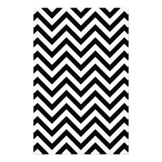 Black and White Zigzag Stripes Chevron Pattern Stationery