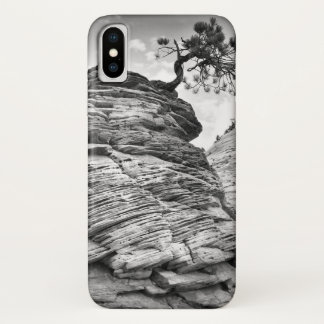 Black and White Zion Bonsai Tree iPhone X Case