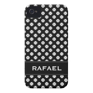 Black and whiteiPhone 4 case with tennis balls Case-Mate iPhone 4 Case