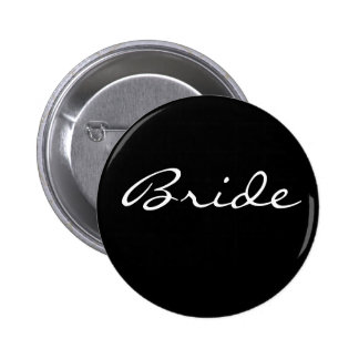 Black and Whtie Bride Button