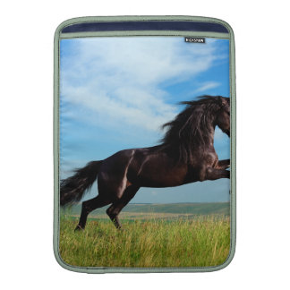 black and wild Stallion Rearing Horse Sleeves For MacBook Air