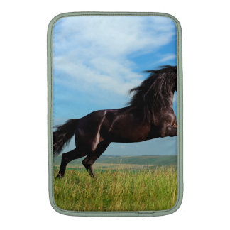black and wild Stallion Rearing Horse Sleeve For MacBook Air