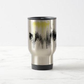 Black and Yellow Abstract Travel Mug
