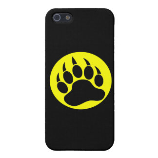 Black and Yellow Bear Paw iPhone 5 Covers