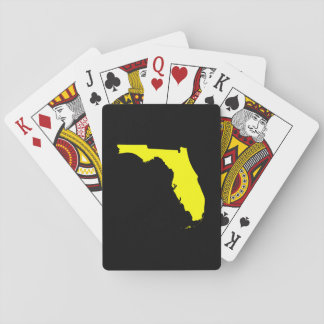 Black and Yellow Florida Playing Cards