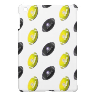 Black and Yellow Football Pattern iPad Mini Covers
