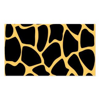 Black and Yellow Giraffe Print Pattern Business Card Templates