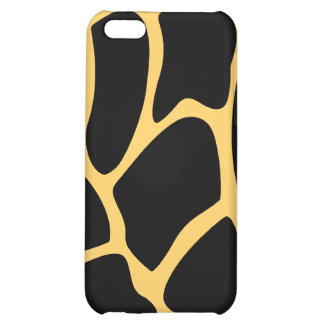 Black and Yellow Giraffe Print Pattern. Case For iPhone 5C