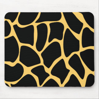Black and Yellow Giraffe Print Pattern. Mouse Pads