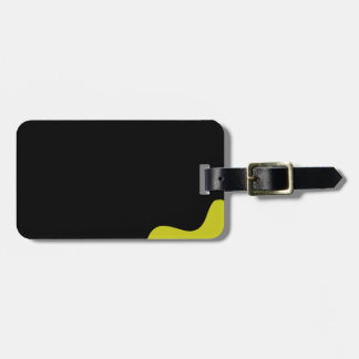 Black and yellow luggage tag