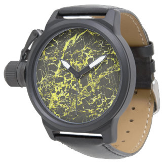 Black and Yellow Marble, Wrist Watches