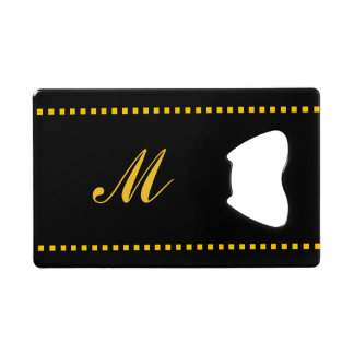 Black and Yellow Monogrammed