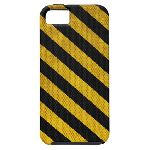 Black and Yellow Parking Stripes iPhone 5 (Vibe) iPhone 5 Cases
