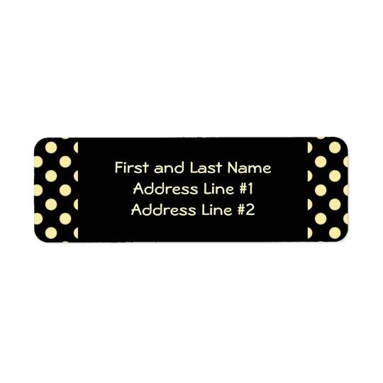 Black and Yellow Polka Dot Return Address Label