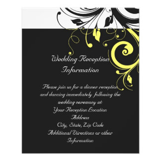 Black and Yellow Reverse Swirl Full Color Flyer