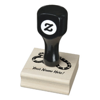 Black and yellow snake rubber stamp