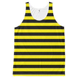 Black and Yellow Stripes All-Over Print Singlet