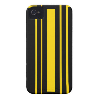 Black and yellow stripes iPhone 4 Case-Mate case