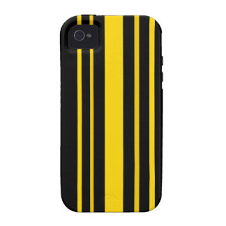 Black and yellow stripes iPhone 4/4S covers