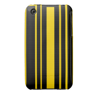 Black and yellow stripes iPhone 3 case