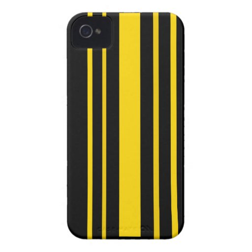 Black and yellow stripes Case-Mate blackberry case