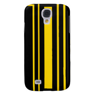Black and yellow stripes galaxy s4 covers