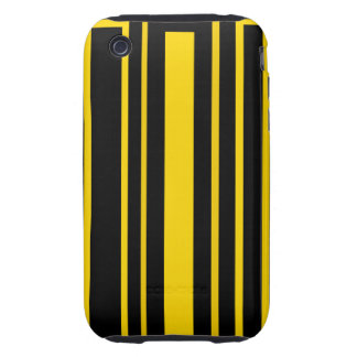 Black and yellow stripes tough iPhone 3 case