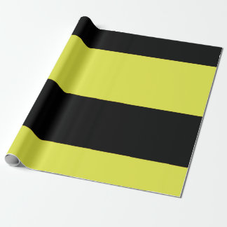 Black and Yellow Stripes Wrapping Paper