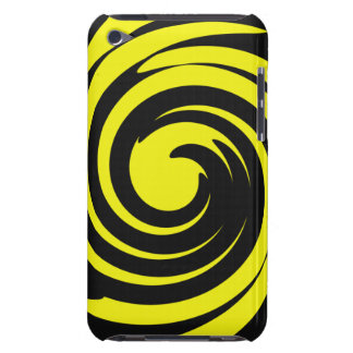 Black and yellow swirl Case-Mate iPod touch case