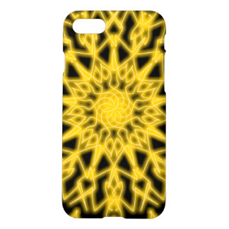 Black and yellow ~Tech~Lace~ Flames ~ iPhone 8/7 Case