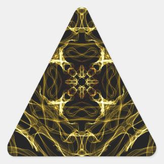 Black and Yellow Triangle Sticker
