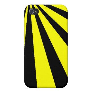 Black and Yellow Vortex iPhone 4 Case