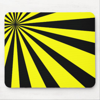 Black and Yellow Vortex Mouse Pad
